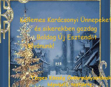 Békés, meghitt karácsonyi ünnepeket és sikerekben gazdag, boldog új évet kívánunk!